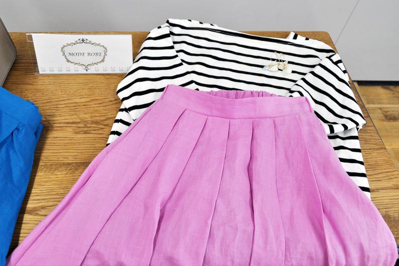 mode robe リネンスカート